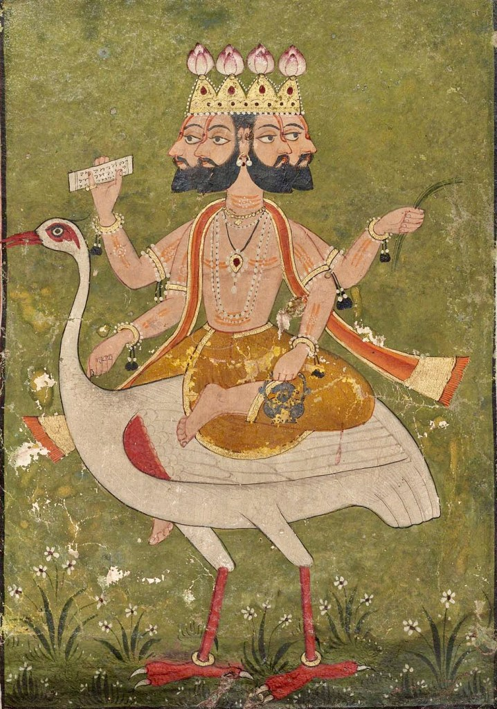 Brahma, by which long Hindu time is measured