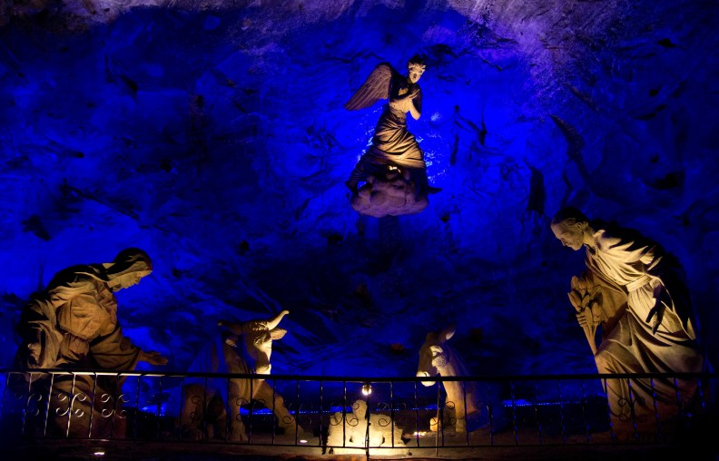 Sculpture in the Salt Cathedral of Zipaquirá