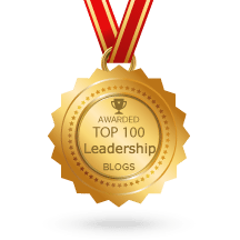 FeedSpot Top 100 Leadership badge