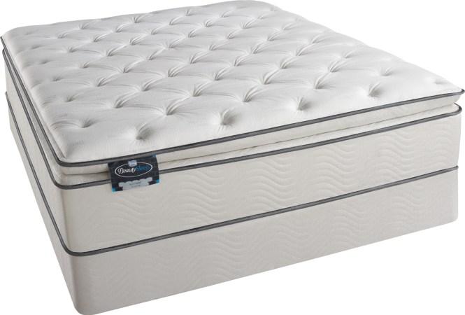 Simmons Beautysleep Euro Pillow Top Foam Encased