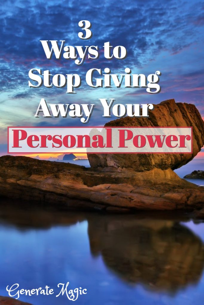 Are you giving away your personal power? Discover unexpected ways you are allowing others to control you. Then learn how to take back your power in three simple steps.   personal power   taking back your power   regain control   self love   looking for approval  