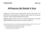 Grégoire - 44 ans - 44 heures de GAV