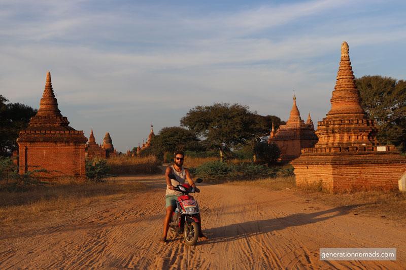 Bagan E-bike Temples Myanmar