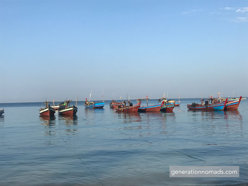 Ngapali Beach Fishing Boats