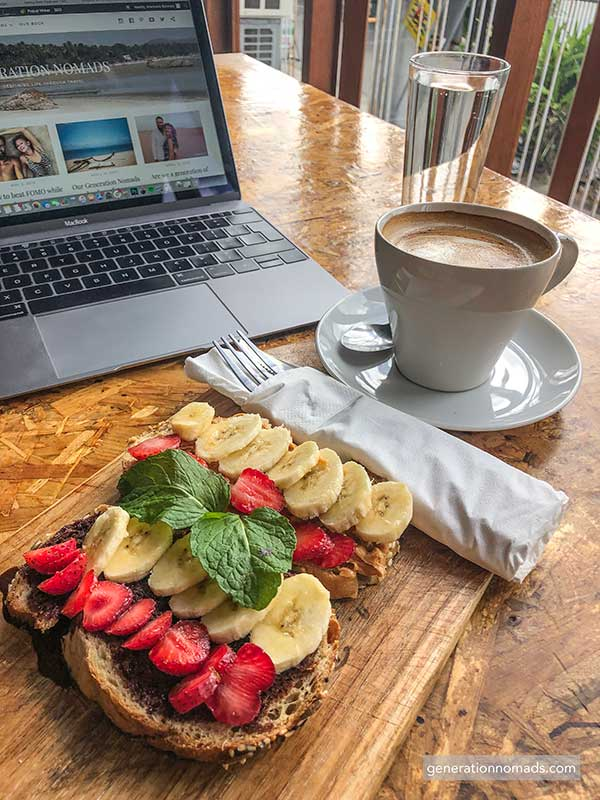 Coworking Bali food at your desk Outpost Canggu