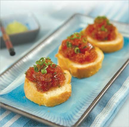 Crunchi Ahi Toast - Generations Magazine - June - July 2012