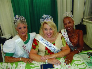 "MODELS OF HEALTH: Ms. Medicare titleholders (from left) Laurie Bachran, Fay Rawles Schoch and Terri Rainey graced the annual ""Good Life Expo"" from Sept. 22–24 in the Neal Blaisdell Exhibition Hall."