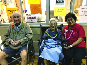 Above, I am pictured with Herbert and Martha Yasuhara, who never miss this wonderful annual event. The gymnasium was packed with excited active seniors; laughter could be heard from the rafters to the fields. Super fun day!