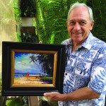 Ed Bartholomew with one of his favorite paintings.