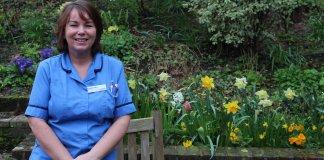 Caroline Collins, hospice nurse