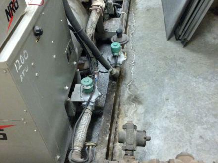 Dual fuel ystem for a emergency generator