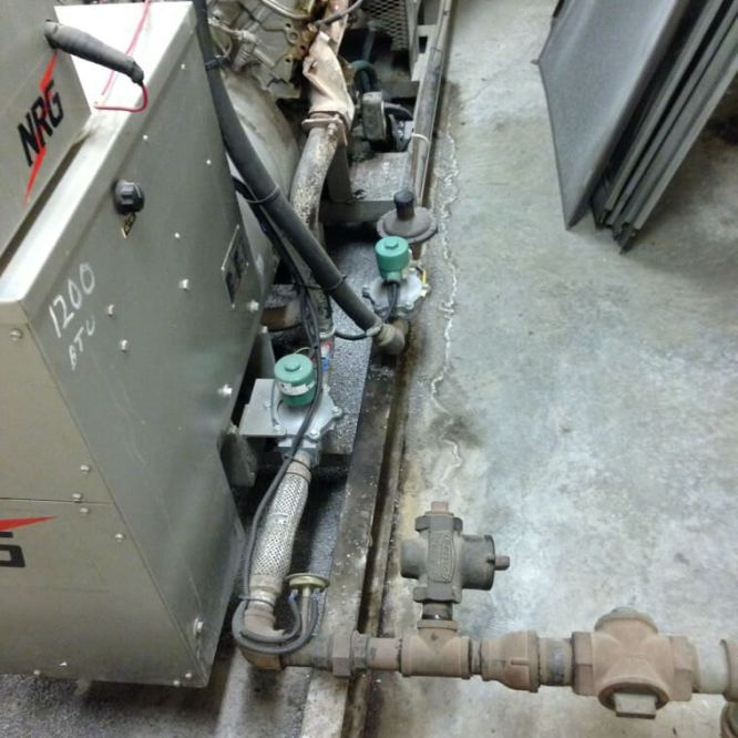 Dual fuel ystem for a emergency generator