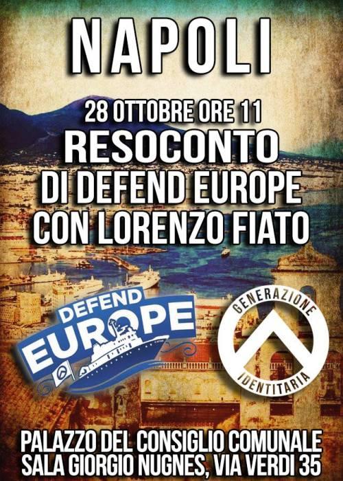 GID Napoli resoconto Defend Europe