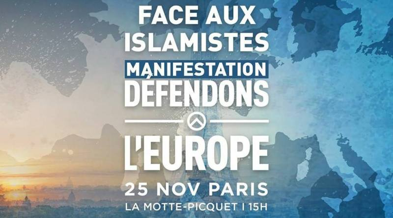 GID Parigi manifestazione contro islamisti difendi europa