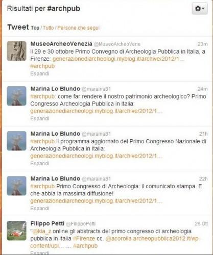 #archpub, twitter, archeopubblica2012