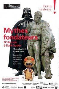 la locandina della mostra Mythes Fondateurs alla Petite Galerie du Louvre
