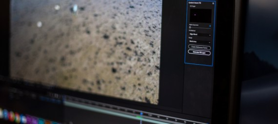 Image of After Effects window on a screen