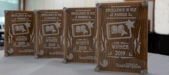 Blackboard & VLE Award 2019 trophies