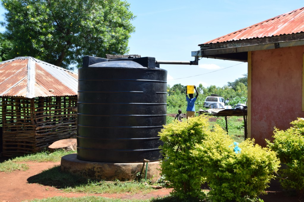 Rainwater collection systems are used in some parts of Siaya