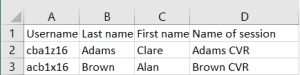Extract from an Excel spreadsheet.