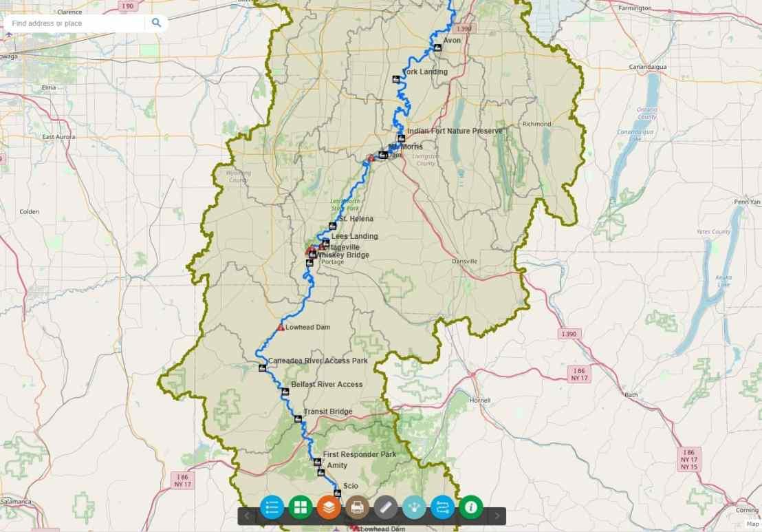 Interactive Blueway Map
