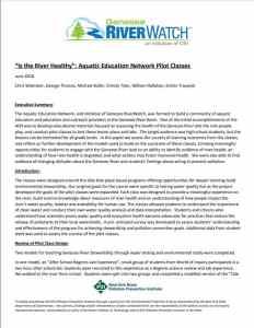 Aquatic Education Network Pilot Class Assessment White Paper – June 2018