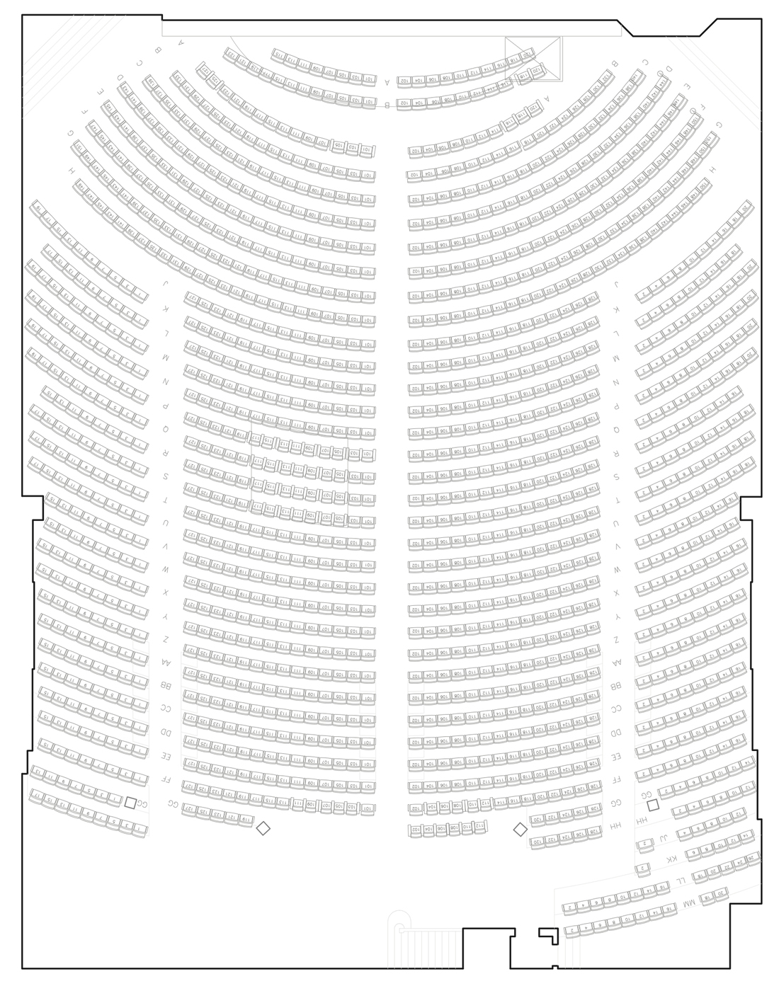Genesee Theater Seating Chart