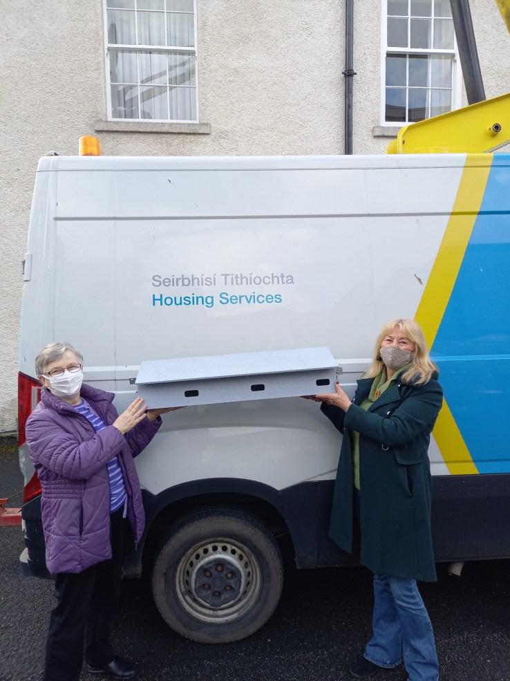 Swift Nest Box before installation - by Helen Burke of Dublin City Council