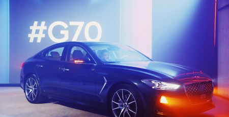 genesis g70 launched in russia