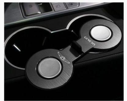 genesis g70 aluminum cup holder plates 5