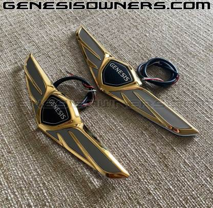 g80 let lit wings with 24k gold plating