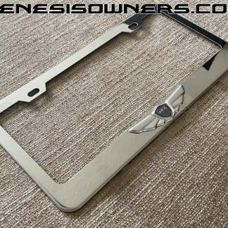 genesis wings license plate frame