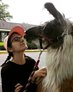 Jori and Jack the Llama