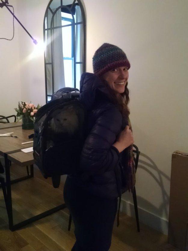 Sheena in Backpack