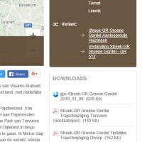 Wandeltracks in Google Maps