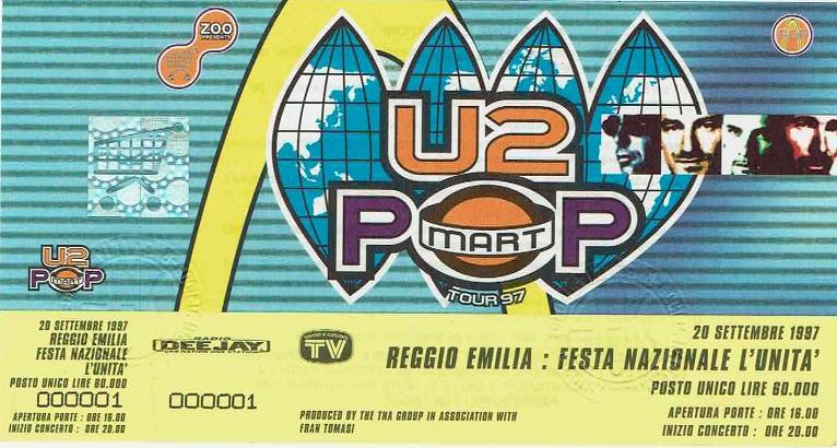 Biglietto del concerto con cui MTV Italia inaugurò le trasmissioni.