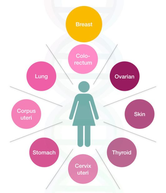 Common cancers in female