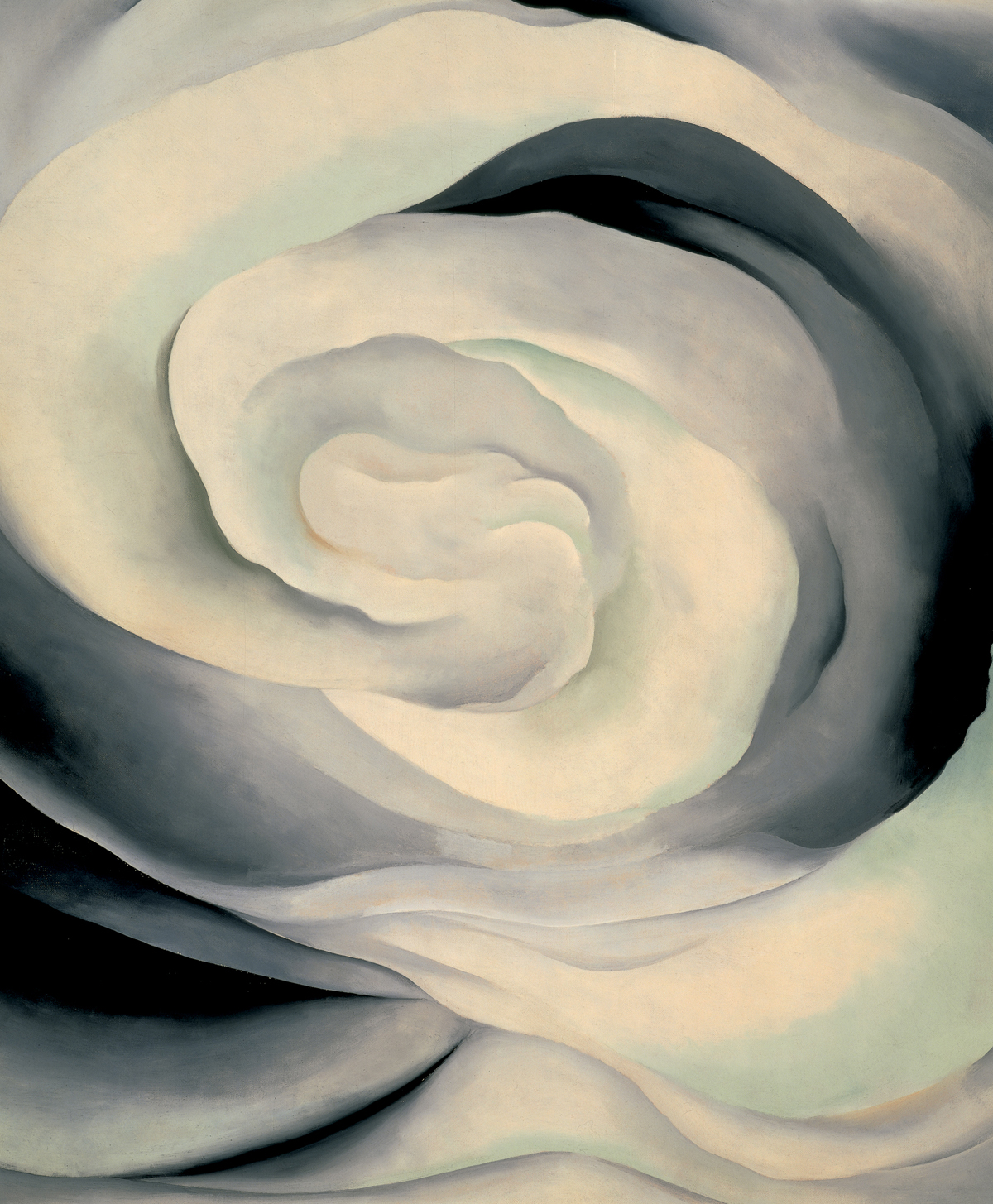 Georgia O'Keeffe, Abstraction White Rose, 1927, oil on canvas; 36 x 30 in.; Georgia O'Keeffe Museum, gift of The Burnett Foundation and The Georgia O'Keeffe Foundation; © 2009 Georgia O'Keeffe Museum/Artists Rights Society (ARS), New York