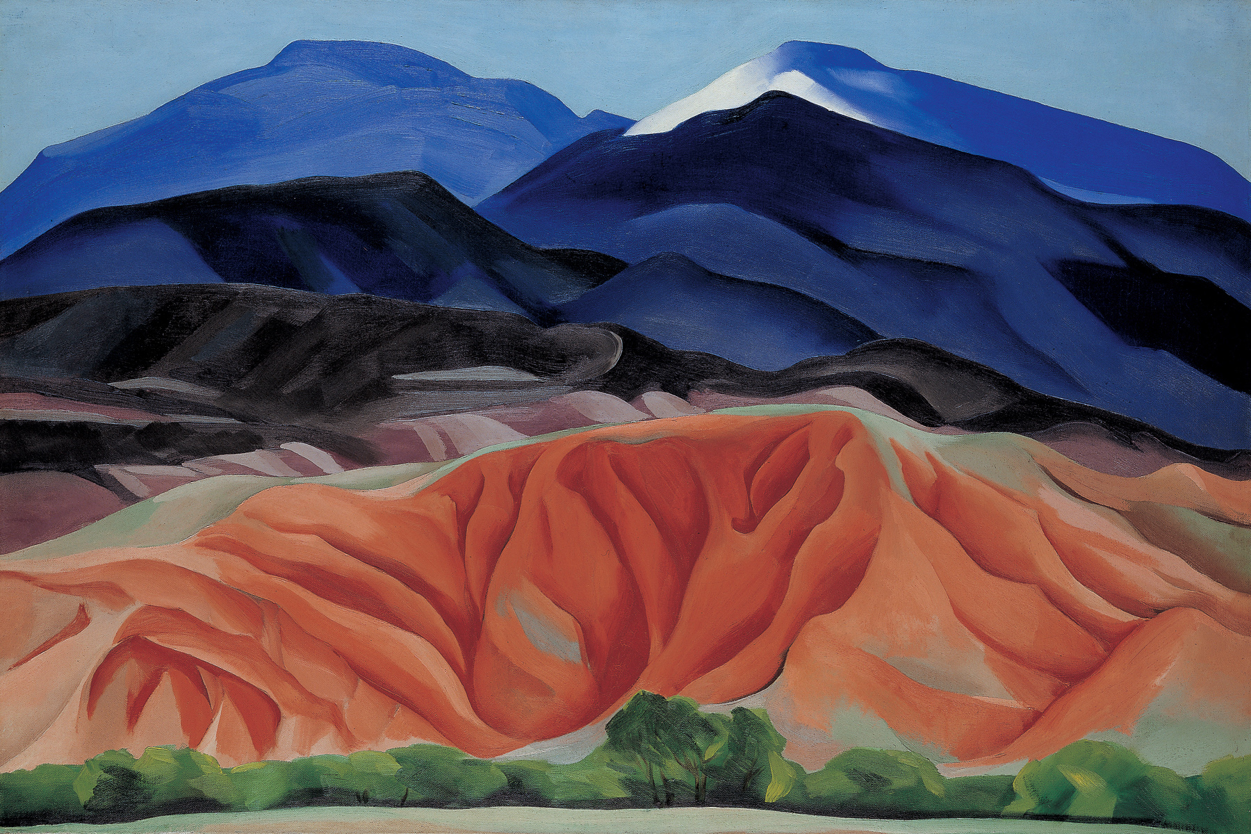 Georgia O'Keeffe, Black Mesa Landscape, New Mexico/Out Back of Marie's II, 1930; oil on canvas; 24 1/4 x 36 1/4 in.; Collection of the Georgia O'Keeffe Museum, gift of The Burnett Foundation; © 2009 Georgia O'Keeffe Museum/Artists Rights Society (ARS), New York