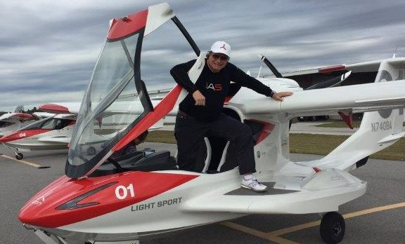 Gene Valentino and his ICON A5 in Tampa