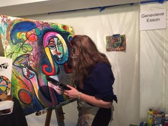 Here I am painting LIVE at the event.