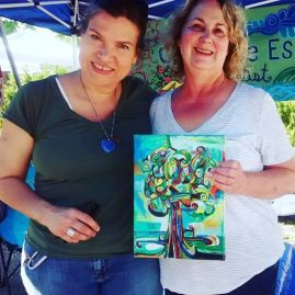 "SOLD my painting, ""Lyrical Tree"" to Sandy at Tower Grove Farmers Market!"