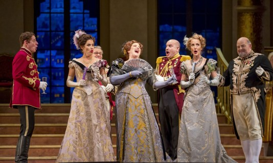 "11/11/15 1:11:27 PM -- The Lyric Opera of Chicago Presents ""The Merry Widow"" Renée Fleming, Nicole Cabell, and Thomas Hampson © Todd Rosenberg Photography 2015"