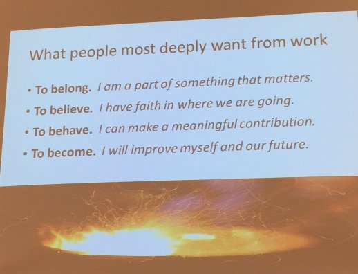 what do people really deeply want from work