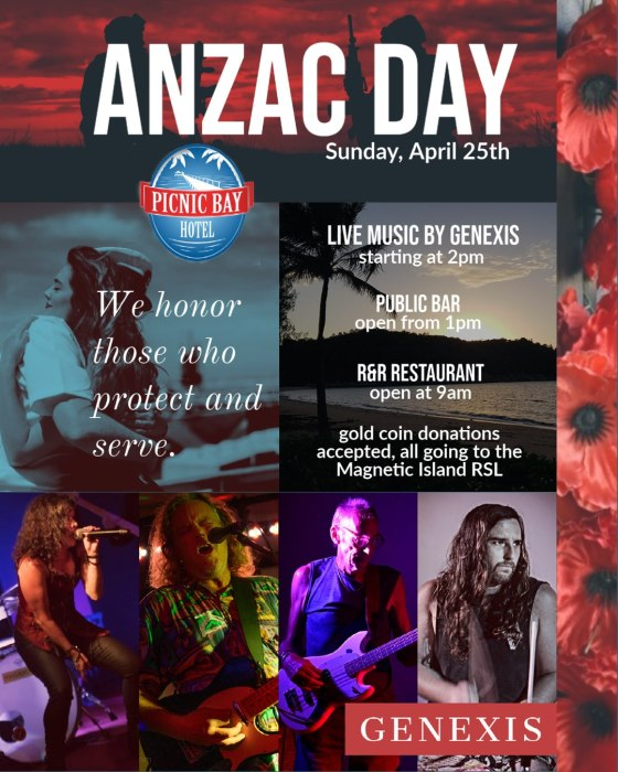 Anzac Day 2021 live music Magnetic Island