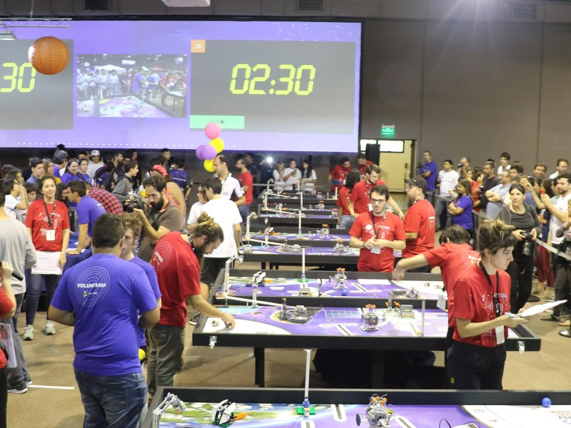 Robocars in Ceibal's 2018  Robotics, Programming, and Videogames Olympics