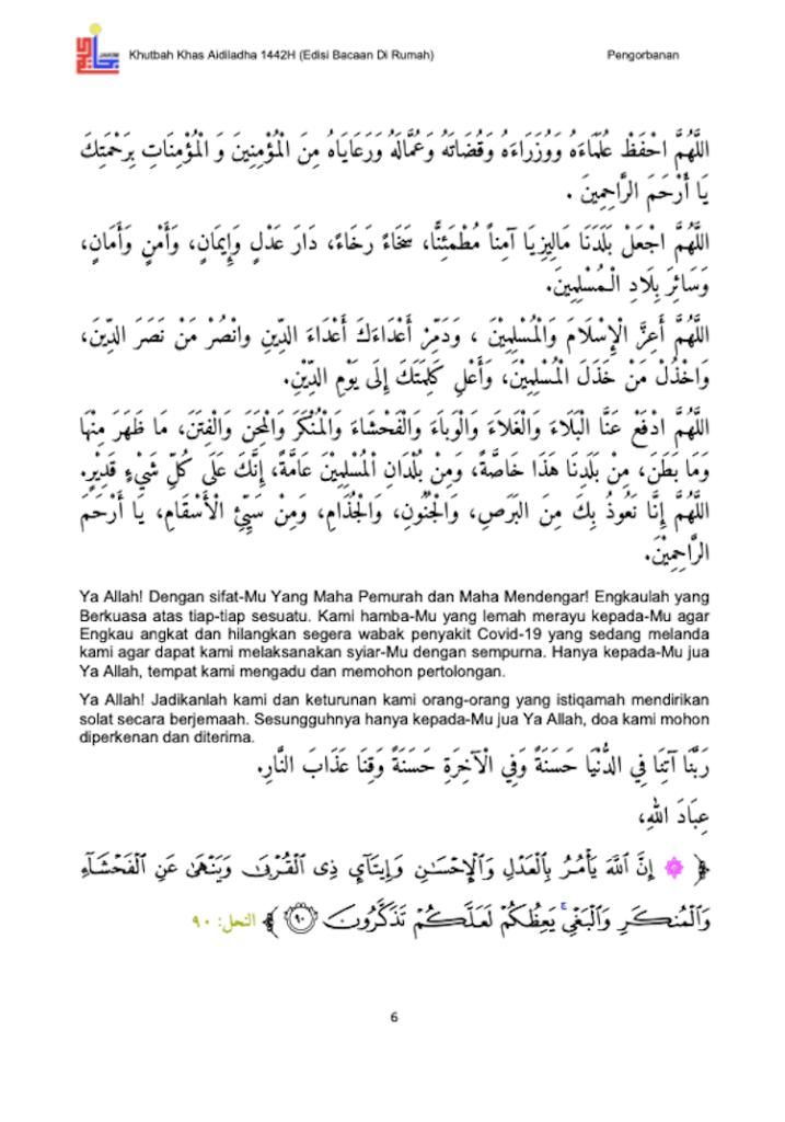 Khutbah Raya Haji di rumah 7
