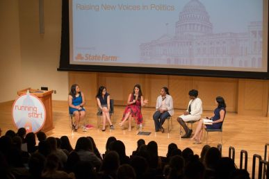 WASHINGTON, DC - July 11: Running Start's annual Young Women's Political Summit at Georgetown University's McDonough School of Business on Saturday, July 11. The summit is a nonpartisan training to prepare young women to run for elected office. (Erin Schaff for Running Start)
