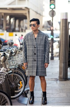 Bryanboy is wearing a coat from Balenciaga