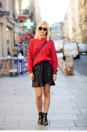 knit sweater and skirt from Designers Remix, boots from & Other Stories and a bag from Chanel